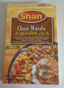 Chaat Masala is in the aisle with all the boxes that look like this