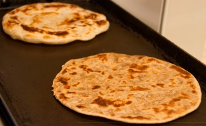 Parathas nicely puffed up